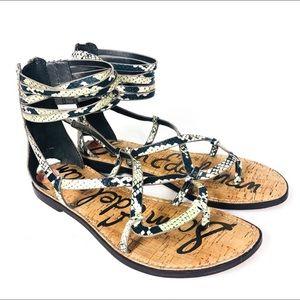 Sam Edelman   Glenda Snakeskin Gladiator Sandal